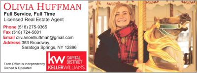 Real Estate Agent Olivia Huffman joins growing Saratoga Office of Keller Williams Capital Region