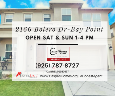 OPEN HOUSE 2166 Bolero Dr – Bay Point