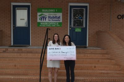 Michelle Watson visits the Athens Habitat for Humanity