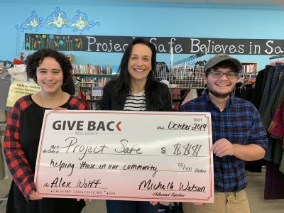Michelle Watson visits Project Safe
