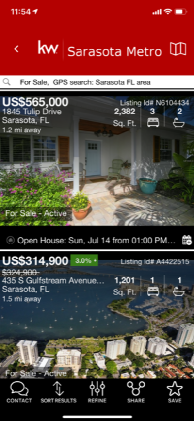 Find Sarasota Open Houses Easily on Your Mobile Phone