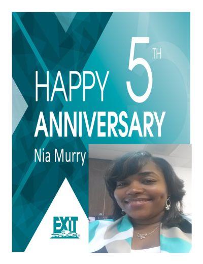 Happy 5th Anniversary Nia Murry