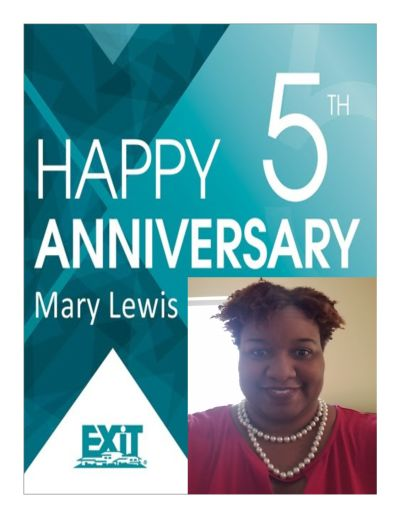 Happy Anniversary Mary Lewis
