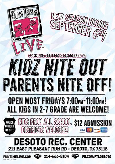 Parents, do you need a nite off?  Kids, are you looking to get out?