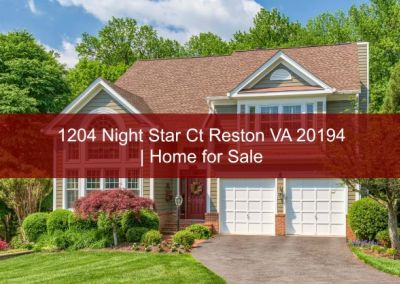 Under Contract! 1204 Night Star Ct Reston VA 20194 | Home for Sale