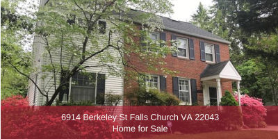 6914 Berkeley St Falls Church VA 22043 | 2 Story Home for Sale