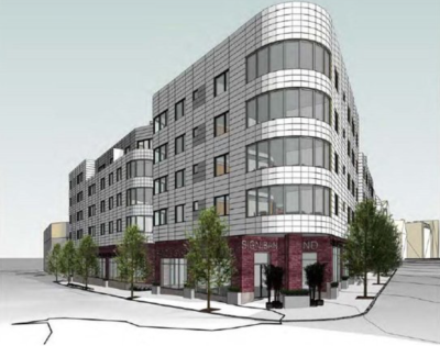 64-unit residential building proposed for South Boston Andrew Square