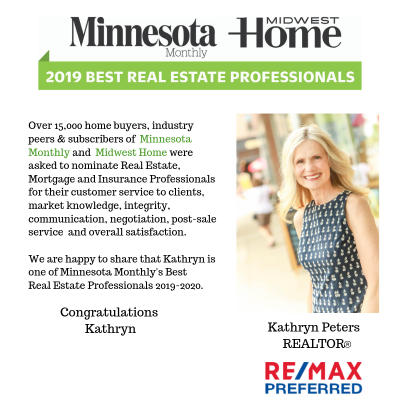 Kathryn Peters Named Minnesota Monthly's 2019-2020 Best Real Estate Professional