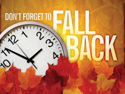It's Time for a Change! Don't Forget to #FallBack Tonight!