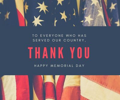 Happy Memorial Day 2019!