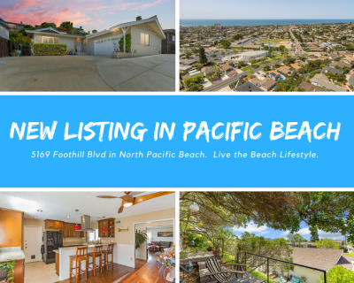 New Listing Alert!  Pacific Beach Lifestyle at its Best