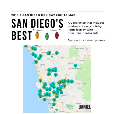 Ho, Ho, Ho!  It's HERE! 2018 San Diego Holiday Lights Map