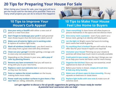 20 Tips for Preparing Your House for Sale This Spring
