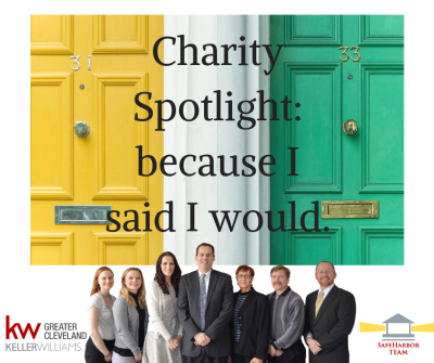Charity Spotlight: because I said I would.