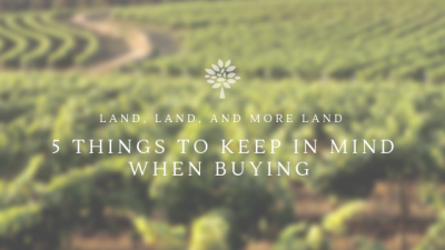 Monday's with Murphy-5 Things to keep in mind when buying land