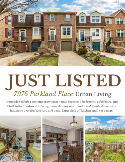 Just Listed! 7976 Parkland Place, Frederick, MD 21701