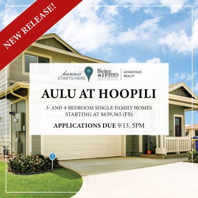 Aulu at Hoopili Lottery | September 14, 2019