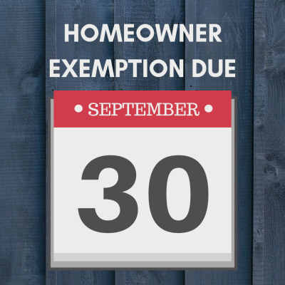 Hawaii Homeowner Exemption Due 9/30