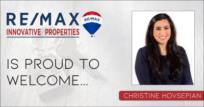 Christine Hovsepian Joins RE/MAX Innovative Properties