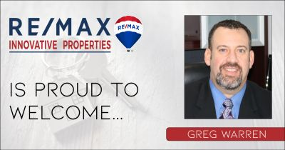 Greg Warren Joins RE/MAX Innovative Properties