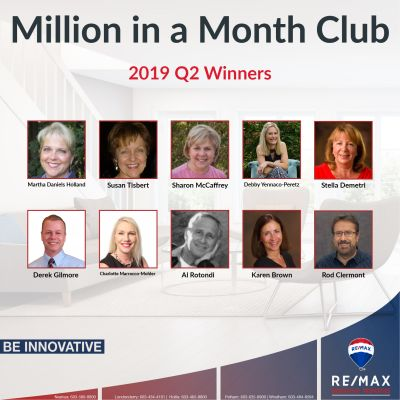 The 2019 Q2 Million in a Month Club