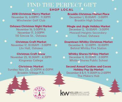 Local Christmas Markets 2018