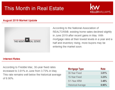This Month in Real Estate for August 2019 by Beth Perez
