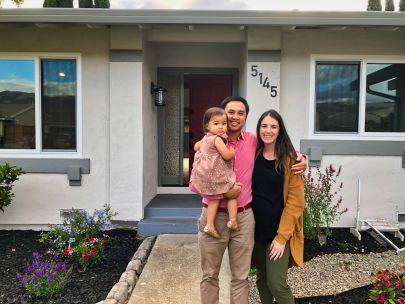 Happy Clients and their beautiful new home