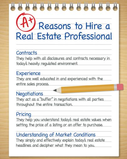 A+ Reasons to Hire a Real Estate Pro