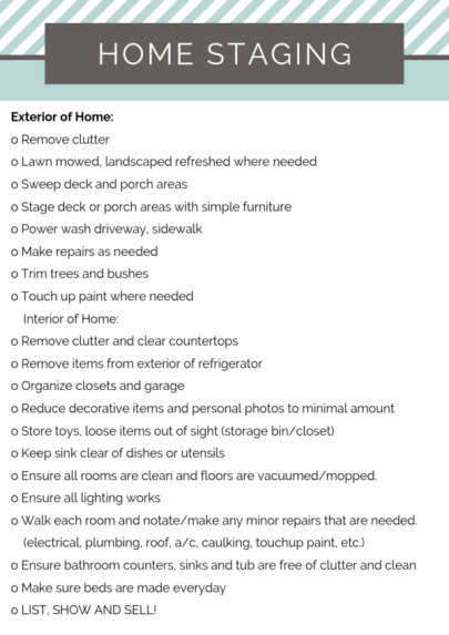 Home Staging Checklist