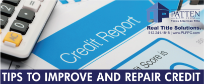 TIPS TO IMPROVE AND REPAIR CREDIT