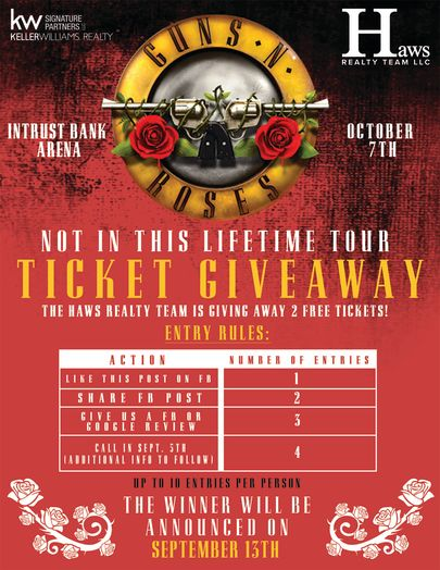 TICKET GIVEAWAY: Guns N Roses @ Intrust Bank