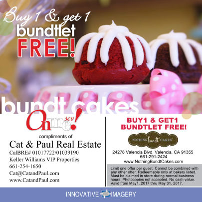 Coupon of the Month – Nothing bundt cakes
