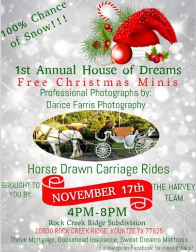 1st Annual House of Dreams Free Christmas Minis