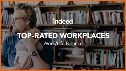 indeed  Top Rated workplaces for work life Balance in 2019