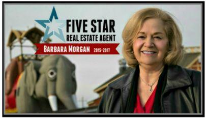 Barbara Morgan Recipient of Five Star Real Estate Agent Award