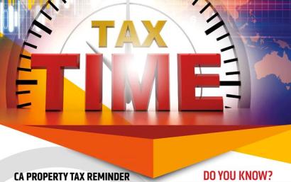 California Property Tax Time