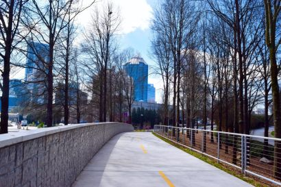 In North Buckhead You'll Find Sidewalks, Bike Paths, and Wooded Trails