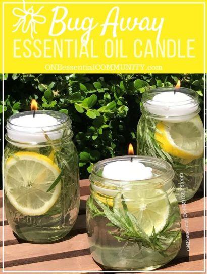 "Workshop Wednesdays… DIY ""Bug Away"" Essential Oil Candles"