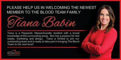 Welcome The Blood Teams newest member – Tiana Babin