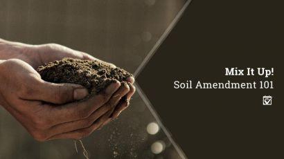 Mix It Up! Soil Amendment 101