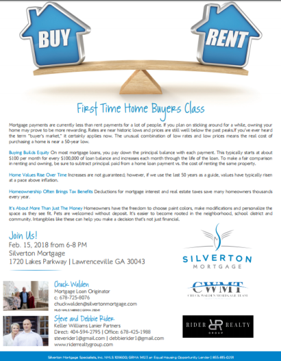 Gwinnett County First Time Homebuyer's Seminar