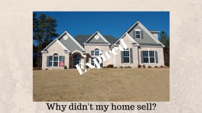 Five reasons as to why your home may not have sold the first time around?