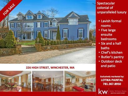 Spectacular Winchester colonial that I recently listed – sold in a day!