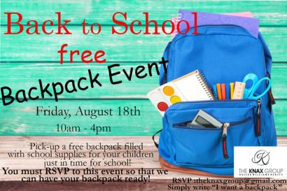 Back to School Free Backpack Event