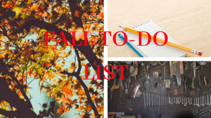 A Fall To Do List For Your Home
