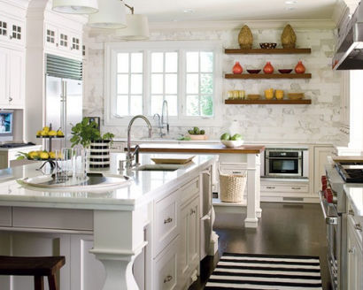 Design Tips: Accenting White Kitchens
