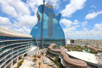 Guitar-Shaped Hotel Near Miami Close to Completion, Starts Taking Reservations