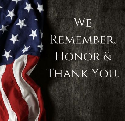 HONOR the fallen. Always REMEMBER. Memorial Day 2019