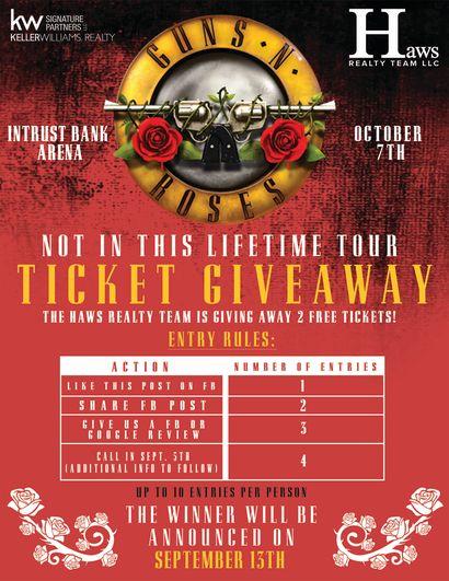 TICKET GIVEAWAY: Guns N Roses @ Intrust Bank